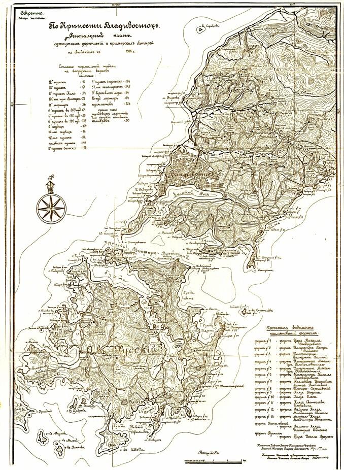 Генеральный план крепости